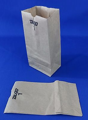 200 Qty 1 Paper Brown Kraft Natural Sack Grocery Retail Bags 3.5x2.375x6.875