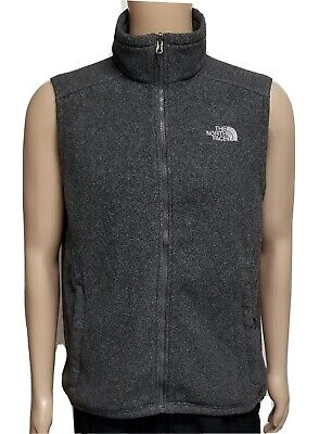 Men's The North Face Fleece Performance Full Zip Vest Gray Size Large L
