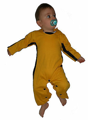 BRUCE LEE KINDER / BABYS / JUNGEN MÄDCHEN STRAMPLER / FANCY DRESS OVERALL - Bruce Lee Kinder Kostüm
