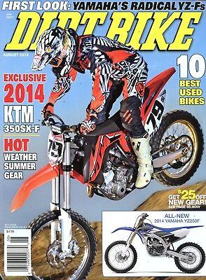 Dirt Bike Magazine August 2013 Exclusive 2014 KTM 350SX-F, 10 Best Used