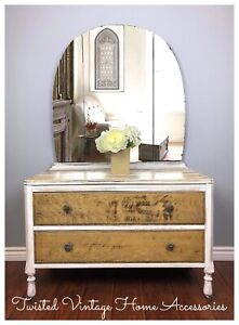 Rustic Antique Dresser with Mirror