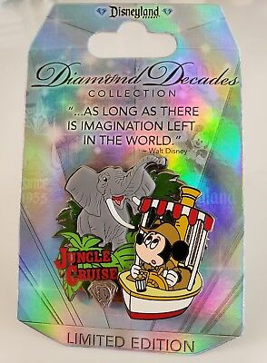 DISNEY DLR JUNGLE CRUISE ATTRACTION DIAMOND DECADES COLLECTION LE Sold Out PIN
