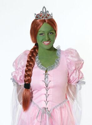 Prinzessin Eig mit Tiara Shrek Fiona Kostüm Perücke - Shrek Prinzessin Fiona Kostüm