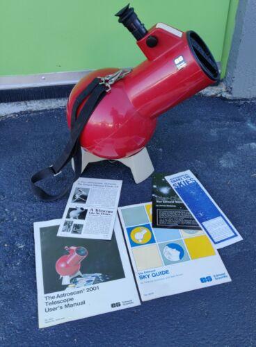 Vintage Astroscan   Field Telescope Edmund Scientific w/Strap & Stand & Manuals