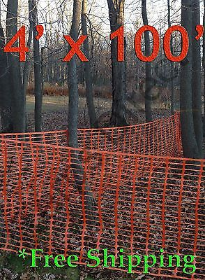 Orange Safety Snow Construction Field Barrier Garden Farm Fence 4 X 100
