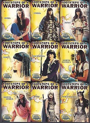 Xena Lucy Lawless Beauty Brawn Footsteps Of A Warrior  9  Card Puzzle Chase Set