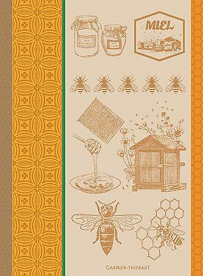 Garnier Thiebaut Jacquard Kitchen Towel Frenchy MIEL ET ABEILLES Honey Bee 2017