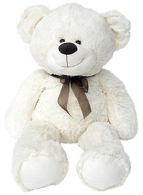 Wagner 9021 - XXL Teddybär 100 cm weiß Plüschbär Teddy Plüschtier 1m riesen-groß