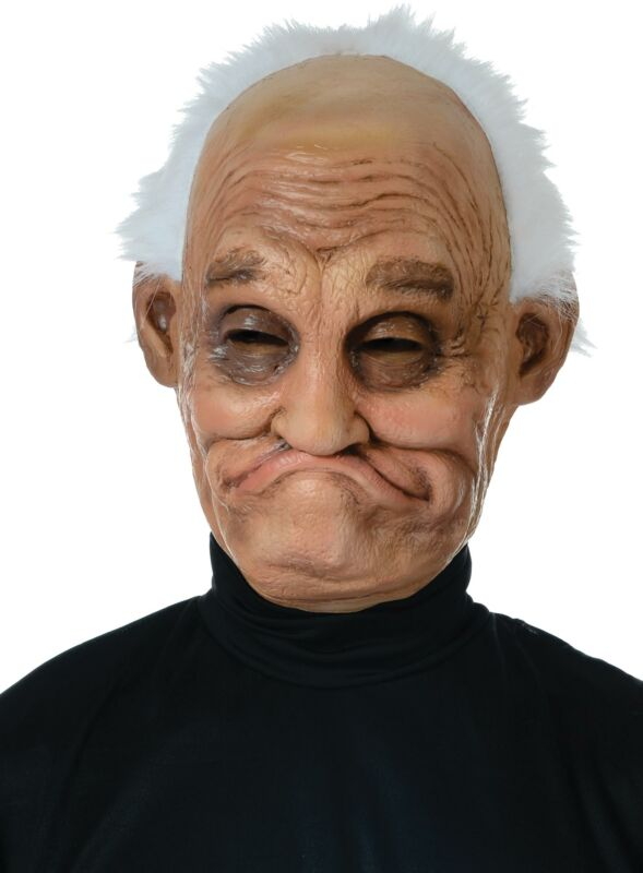 Pappy Latex Old Man Halloween Mask Funny Scary Prop Accessory for Prank NEW