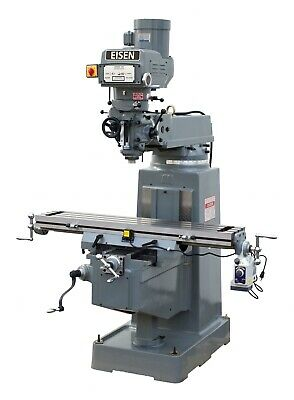 Eisen S-3aii Milling Machine Boxways 10x50 3hp R8 Free Dro Free Powerfeed