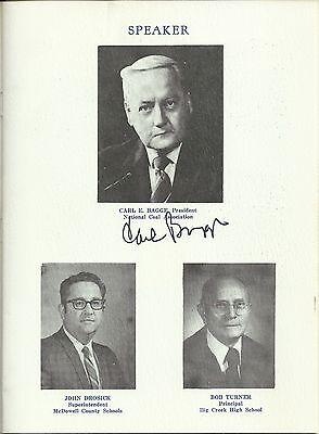 Carl E  Bagge   National Coal Association President Signed 1978 Banquet Program
