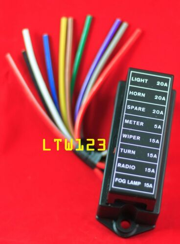 Fuse Block 8 Way ATC or ATC and Mini Fuses