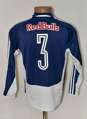 RED BULL SALZBURG AUSTRIA HOME 2005/2006 FOOTBALL SHIRT #3 SIZE S LONG SLEEVE image