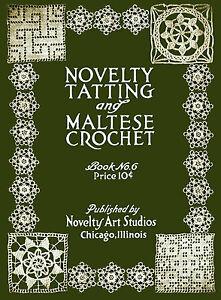 Novelty Arts #6 c.1916 Tatting & Hairpin Lace Edgings Vintage Patterns