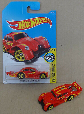 Hot Wheels - VW Volkswagen Kafer Beetle Racer hotrod dragster - MOMO red 2x cars