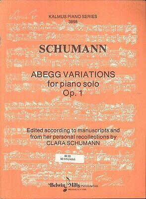 Schumann Carnival of Vienna Op 26 Sheet Music Piano Solo NEW 051480186
