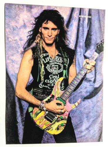 STEVE VAI / FASTER PUSSYCAT / MAGAZINE FULL PAGE PINUP POSTER CLIPPING