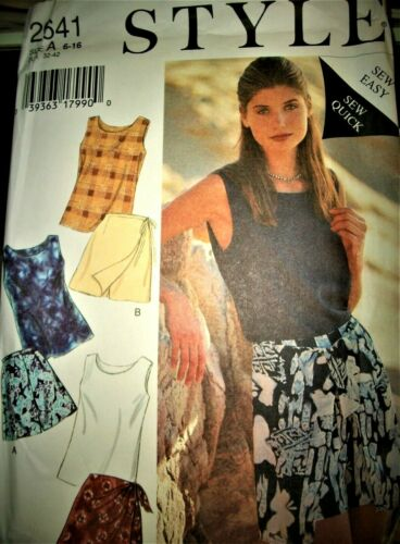 Miss Style 2641 Pattern Skort Shorts Top EASY UNCUT FF Size 6-8-10-12-14-16 OOP