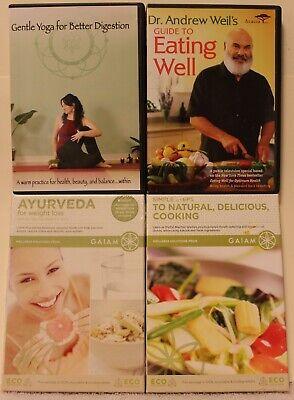 4 diet weight loss DVD lot gentle yoga for better digestion eating well