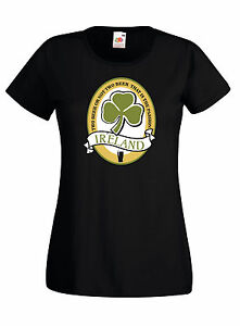 T-shirt-Maglietta-donna-J1190-Two-Beer-Or-Not-Beer-San-Patrizio-Guinness