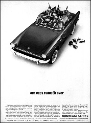 1962 Sunbeam Allpine Car by Rootes car of trophies vintage photo print ad S1