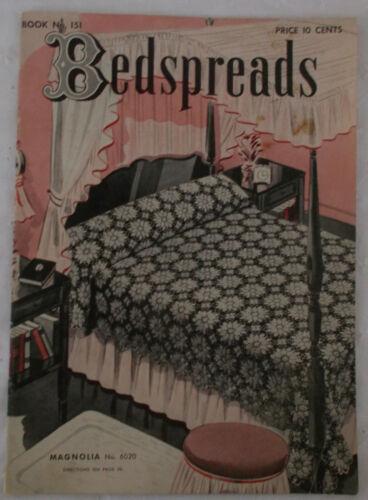 Vintage Clarks ONT 1940 Crochet BEDSPREAD Booklet 12 Patterns