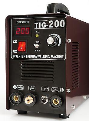 Schweißgerät Inverter 200 MMA + TIG/WIG  HF-Zündung + Zubehör + Schweißmaske