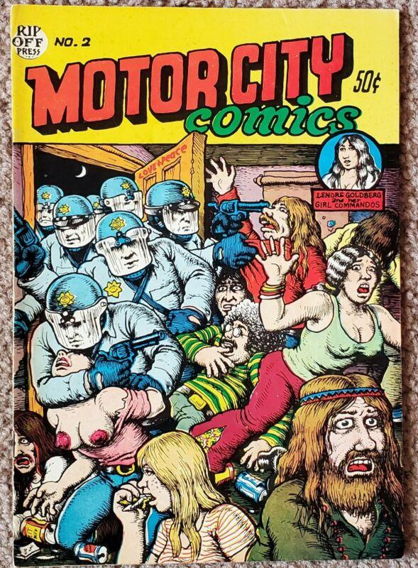 Motor City #2 (1970) Crumb 1st Print VERY GOOD Free Shipping!