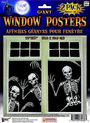 Giant Skeletons (Giant Halloween Skeleton Window Poster 2)