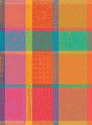 Garnier Thiebaut Jacquard Kitchen Dish Towel French MILLE WAX CREOLE Multicolor
