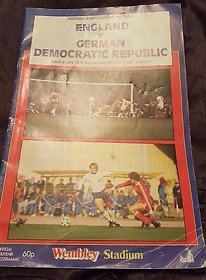 FOOTBALL ENGLAND V GERMAN DEMOCRATIC REPUBLIC 12TH SEPTEMBER 1984 WEMBLEY