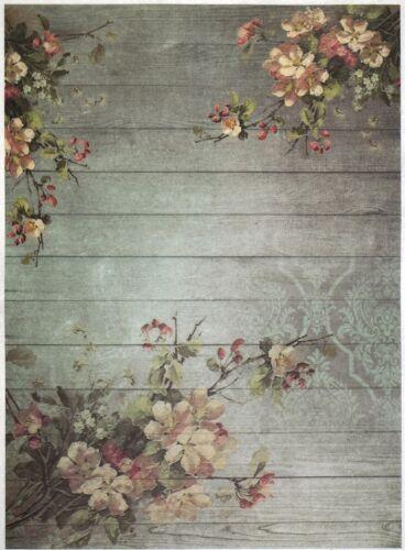 Rice Paper for Decoupage Scrapbook Craft Sheet Blossom Wallpaper