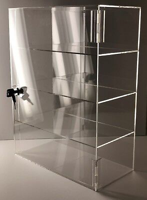 Acrylic Counter Top Display Case Acrylic Locking Show Caseshelves 12x9x20.5