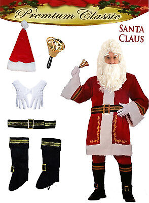 Weihnachtsmann Kostüm Set komplett 6-tlg rot/weiß Nikolaus  (Santa Claus Kostüm)
