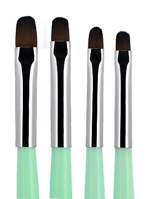 4pcs Acrylic UV Gel PolyGel Nail Art Brush Set Nail Tips Builder Painting Pen