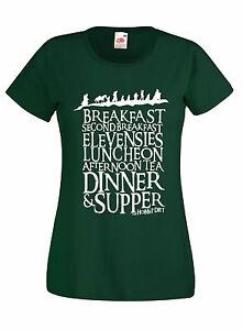 T-shirt-Maglietta-donna-J1108-The-Hobbit-Diet-Tolkien-Fantasy-Bilbo-Film