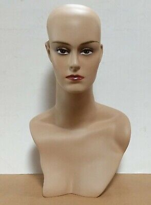 Less Than Perfect 411-c Female Display Mannequin Head Form With Stylish Neck
