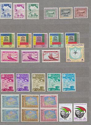 SAUDI ARABIA 1960/1987, 39 COMPLETE SETS, MNH
