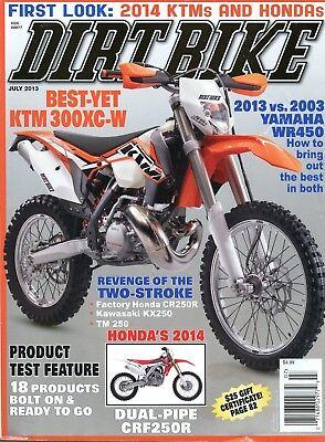 Dirt Bike Magazine July 2013 Best-Yet KTM 300XC-W, 2013 vs 2003 Yamaha