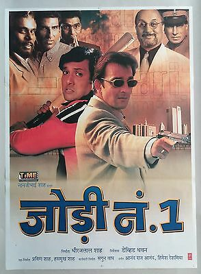NEW BOLLYWOOD Moving picture POSTER- JODI NO. 1 /GOVINDA SANJAY DUTT ANUPAM KHER