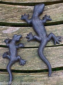 2er set wandh nger eidechse gecko salamander wanddeko - Wanddeko eidechse ...