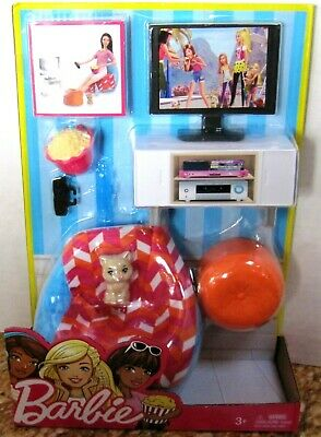 Barbie Dinner and Movie Room Furniture & Accessory Set/New/NRFB