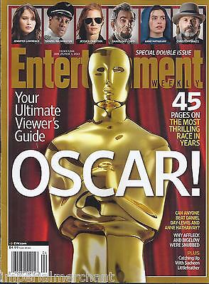 Entertainment Weekly Magazine Oscar Special Double Issue Golden Globes Fashion