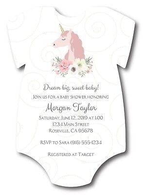 20 Unicorn Baby Girl Shirt Baby Shower Invitations](Baby Girl Invitations)