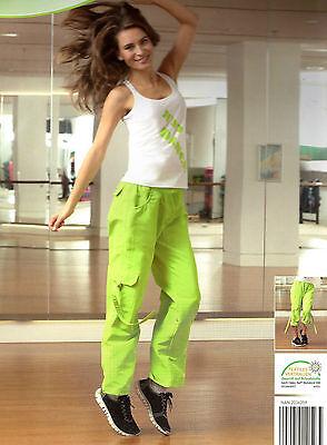 Damen Fitness Hose Größe S 36 Jogginghose Freizeithose grün 3/4 Dreiviertel Hose