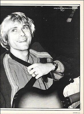 Nirvana Kurt Cobain Happy Times 8 x 11 b/w pin-up photo ready to frame