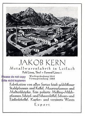 Metallwaren Kern Leisach Tirol Reklame 1927 bei Lienz Werbung +