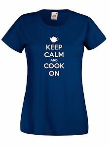 T-shirt-Maglietta-donna-B37-Keep-Calm-and-Cook-On