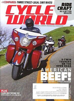 Cycle World Magazine April 2015 Compared: Three Street Legal Dirt Bikes!
