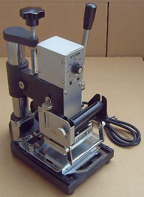 Wtj-90a Manual Hot Foil Stamping Machine Pvc Plastic Card Tipper Stamper New